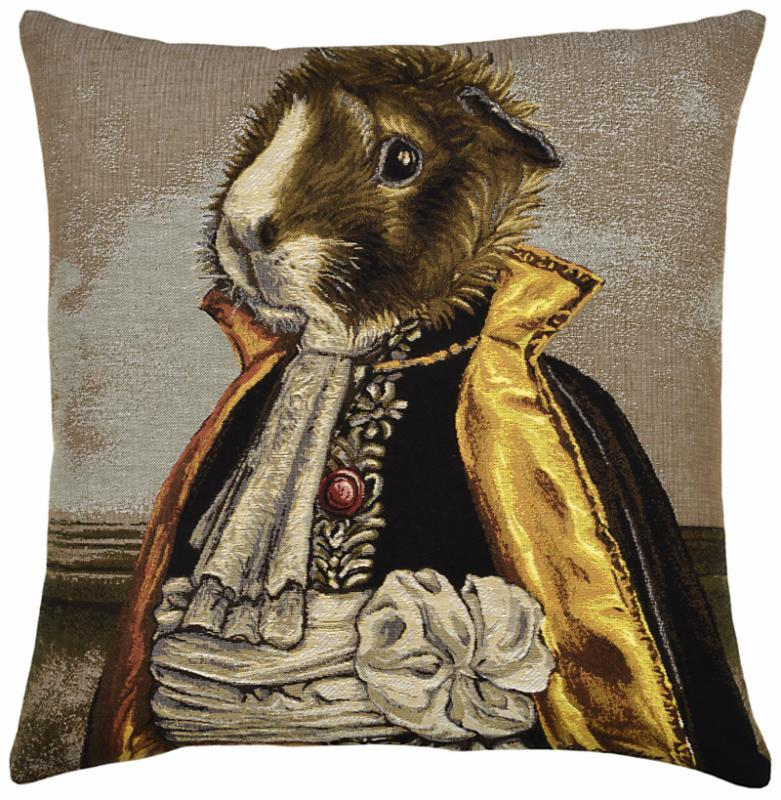 Basile (Guinea Pig), Square Cushion