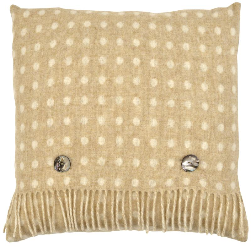Beige Multi-Spot Cushion