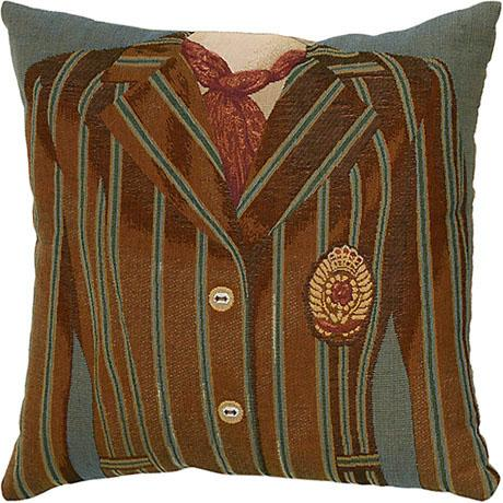 Brown/Blue Stripe - Clearance Cushion