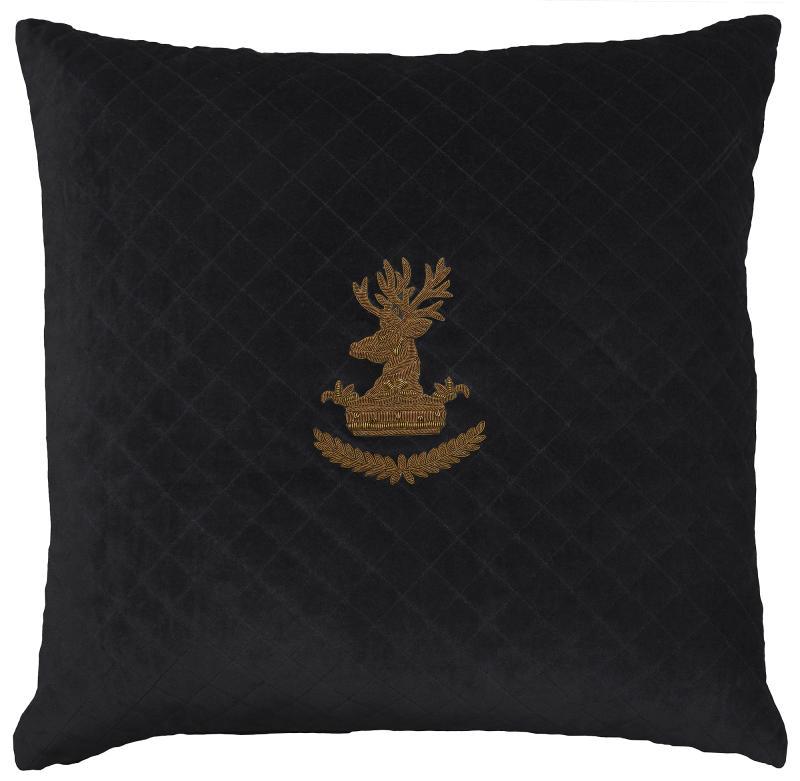 Deer on Quilted Black velvet