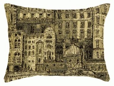 French Architecture Rectangle - Clearance Cushion