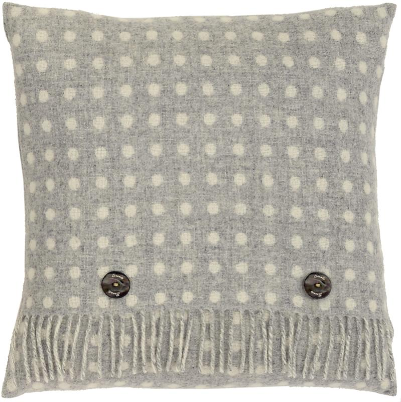Grey Spot Cushion