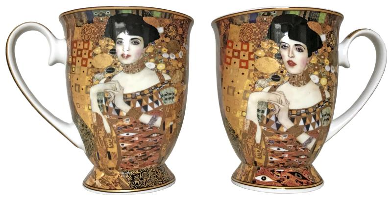 Twin Mugs - Adele Bloch-Bauer (Klimt), Heart Box Set