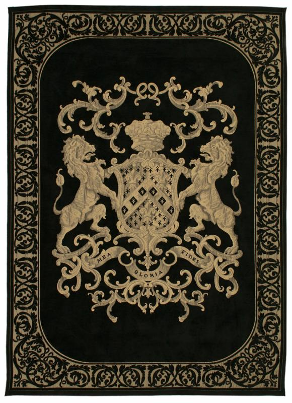 Heraldic Wall Hanging - Black