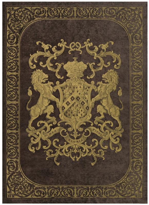 Heraldic Wall Hanging - Chocolate