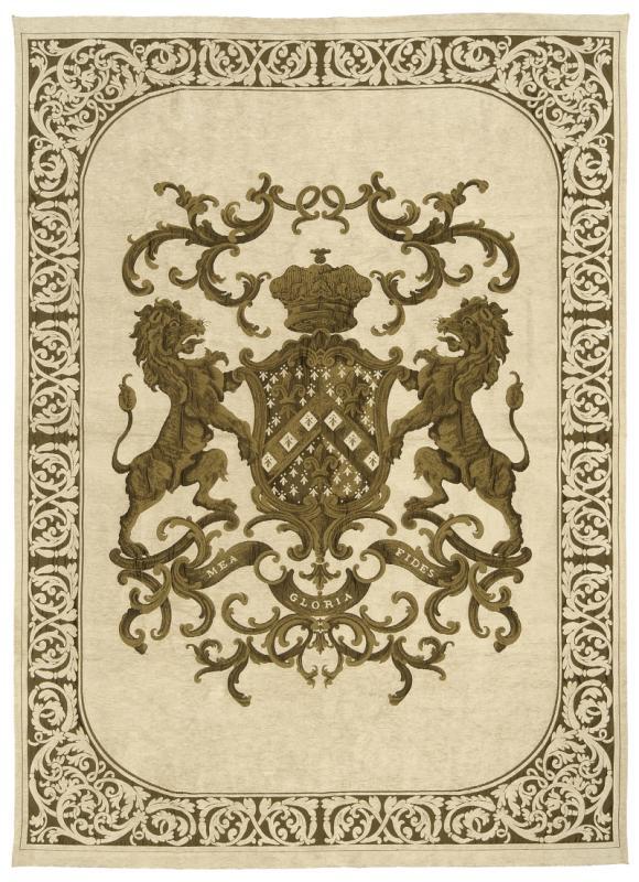 Heraldic Wall Hanging - Cream