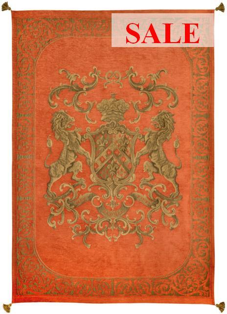 Heraldic Throw - Orange