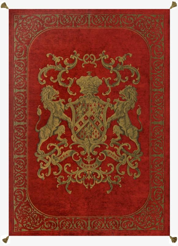 Heraldic Throw - Red