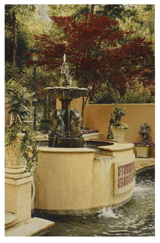 Iron Fountain Wall Hanging