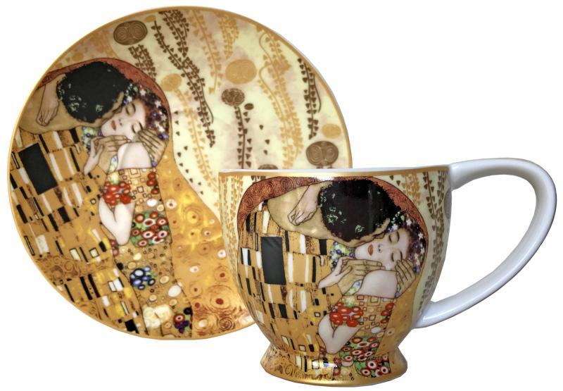 The Kiss (Klimt), Cup & Saucer Set