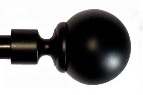 Finial & Rod, Ball - Black Painted, Large