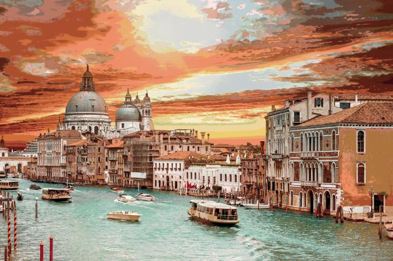 Venetian Sunset Wall hanging