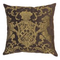 Heraldic Cushion - Chocolate (plain)
