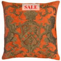 Heraldic Cushion - Orange (plain)