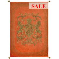 Heraldic Throw - Orange