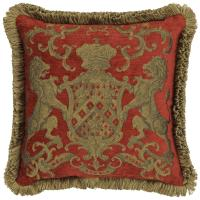 Heraldic Cushion - Red (with trim)