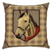 Horse & Plaid - Silver