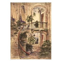 SALE: 268 (Staircase & Palms)