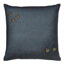 Bullion Embroidered: 5 Bees, Square (Midnight)