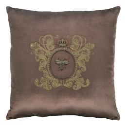 Bullion Embroidered: Bee with Crown (Pink)