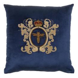 Bee, Crown & Cartouche on Royal Blue Velvet SQ