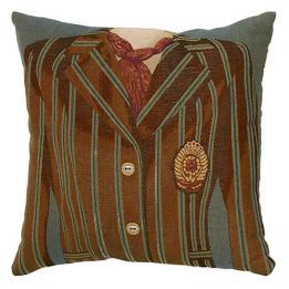 Brown/Blue Stripe - Clearance Cushion