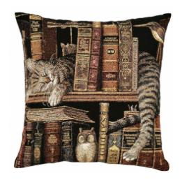 Library Cats - Owl, Cushion