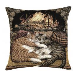 LIbrary Cats - Fire Cuddles, Cushion