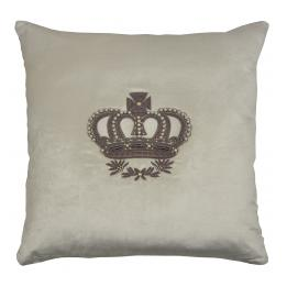 Crown with Pearls (Vanilla) Bullion Embroidered
