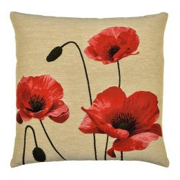 Flanders Poppies, Square Cushion