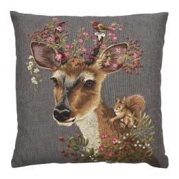 Floral Deer - Scarlet