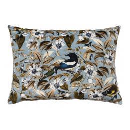 Floral Birds, Blue - Rectangle
