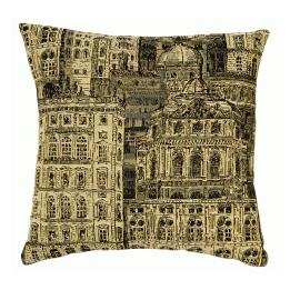 French Architecture Coordinate Square - Clearance Cushion