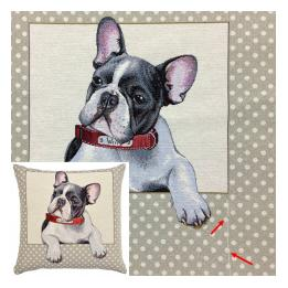 "French Bulldog (""Willy""/Spots) (S&S), Cushion"