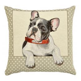 "French Bulldog (""Willy""/Spots), Cushion"