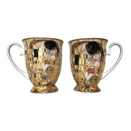 Twin Mugs - The Kiss (Klimt), Heart Box Set