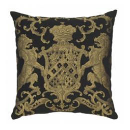 Heraldic Cushion - Black (plain)