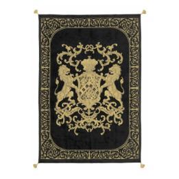 Heraldic Throw - Black