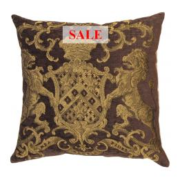 Heraldic Cushion - Chocolate (plain)