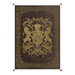 Heraldic Throw - Chocolate