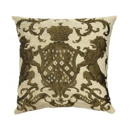 Heraldic Cushion - Cream (plain)