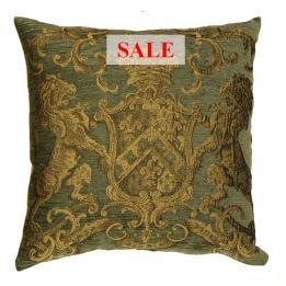 Heraldic Cushion - Olive (plain)