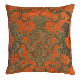 Heraldic Cushion - Orange, No Trim