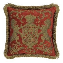 Heraldic Cushion - Red (with trim)
