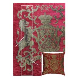 Heraldic Cushion - Red, Plain (S&S)