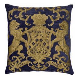 Heraldic Cushion - Royal Blue, no trim