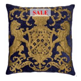 Heraldic Cushion - Royal Blue (plain)