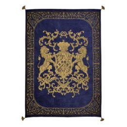 Heraldic Throw - Royal Blue