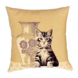 Kitten & Vase - Clearance Cushion