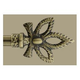 Finial & Rod, Loop - Antique Gold, Small